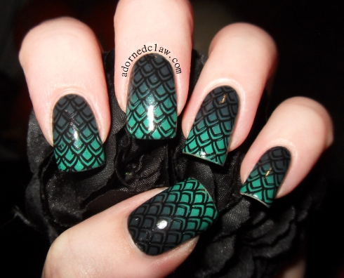 Teal Grey Gradient Scales
