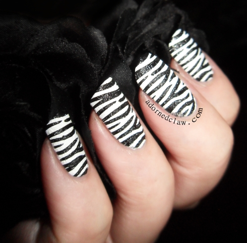 Textured Zebra Nails Moyou Pro 04