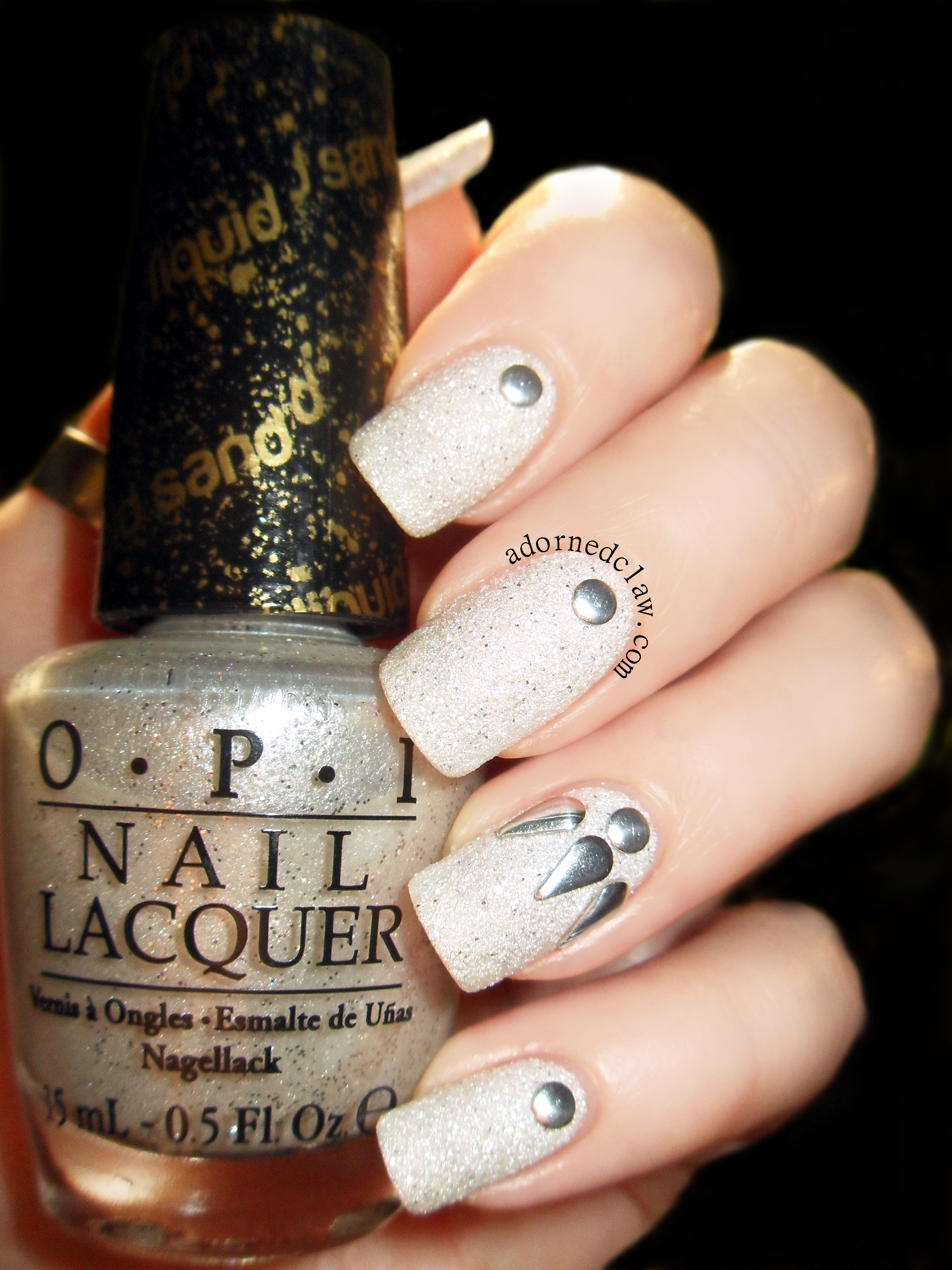 O.P.I Solitaire (and some random studs I found in my nail art box ...