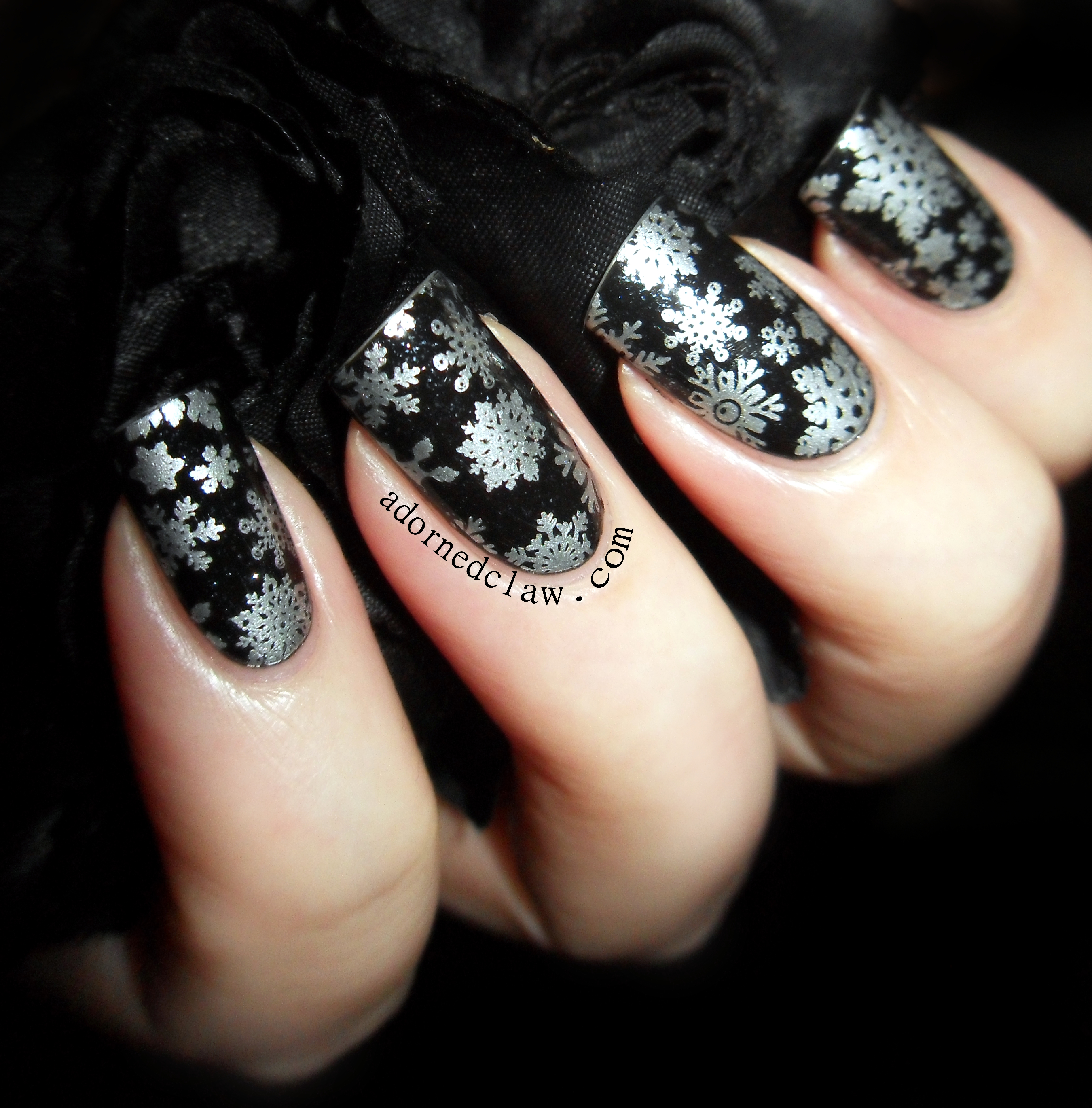 Snowflake Nails The Adorned Claw