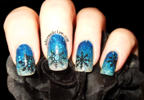 Snowflake Glitter Gradient