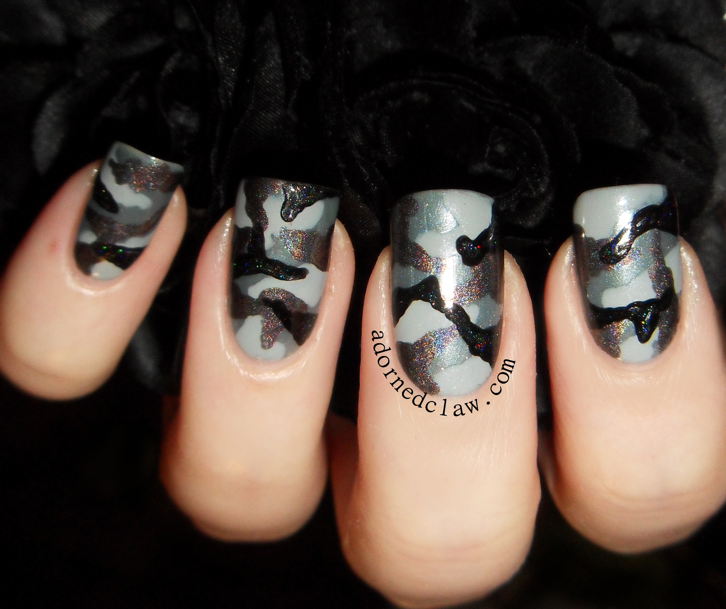 Camouflage Nails The Adorned Claw
