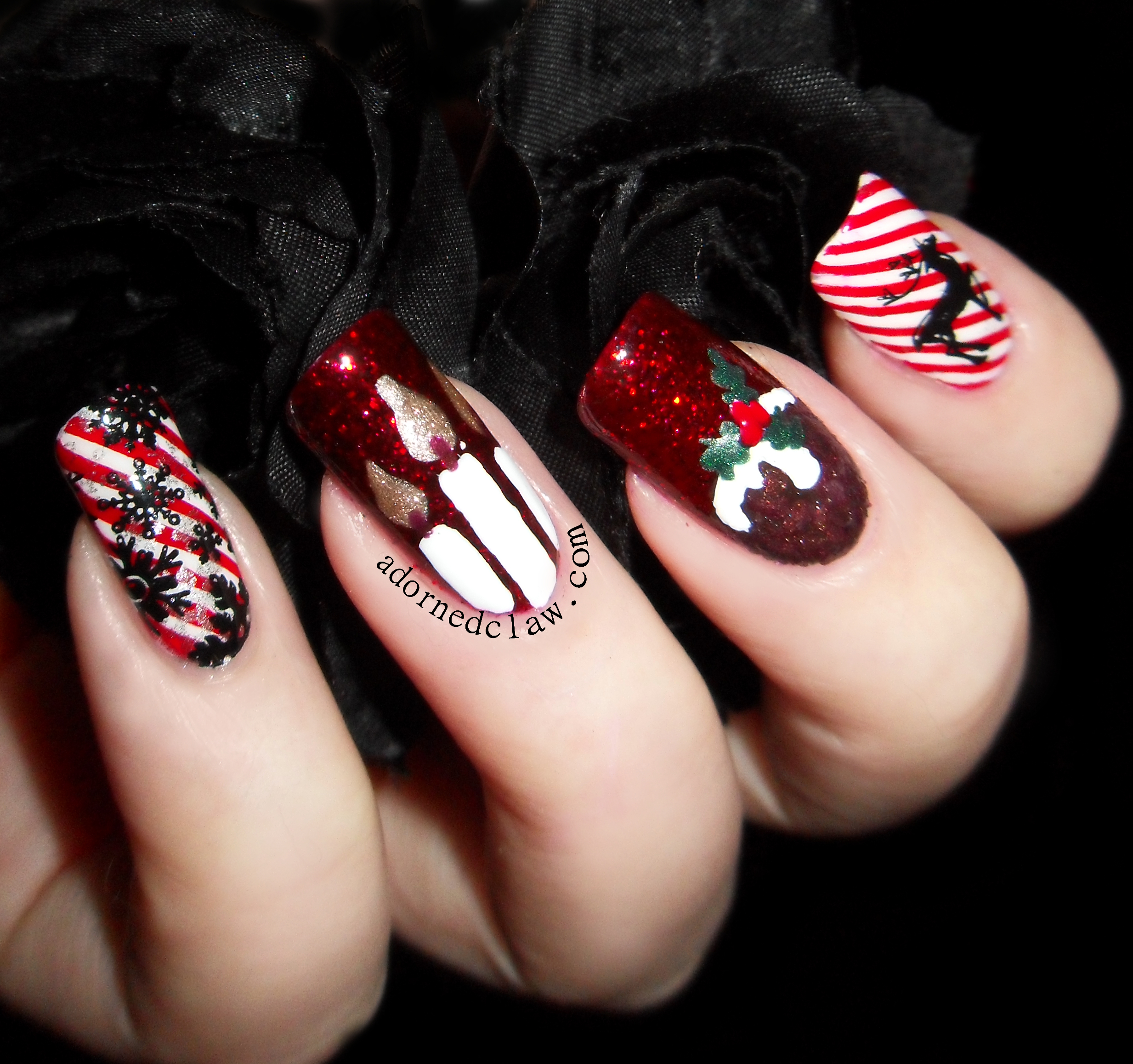 Christmas Nails With Glitter: The Adorned Claw