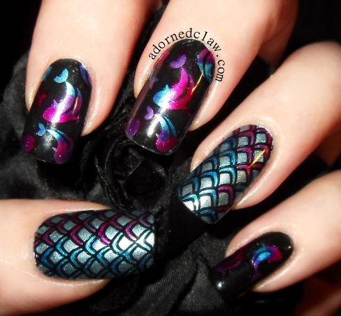Thoroughly Unfestive Tropical Fish Manicure! | The Adorned ...