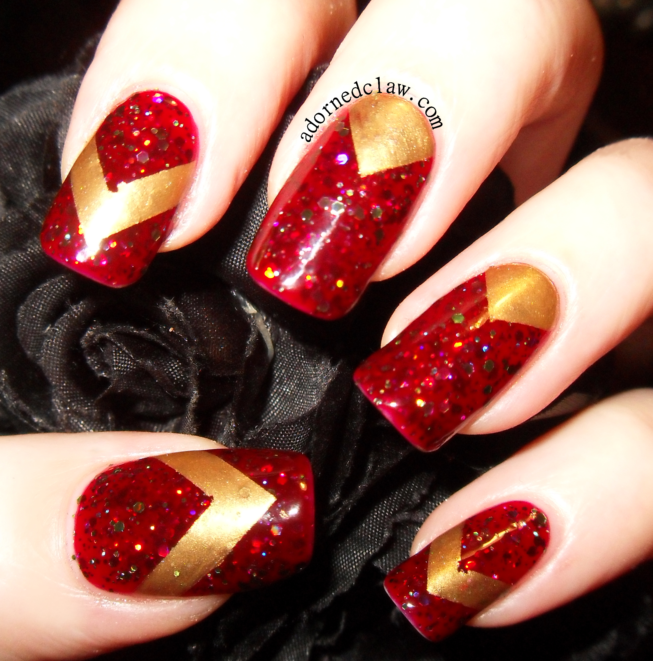 Gold and Red Chevrons | The Adorned Claw