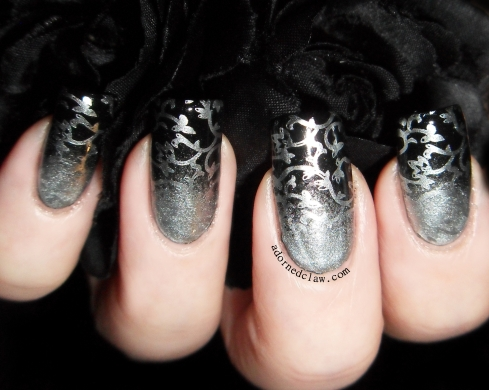 China Glaze I'd Melt For You and Laval Black