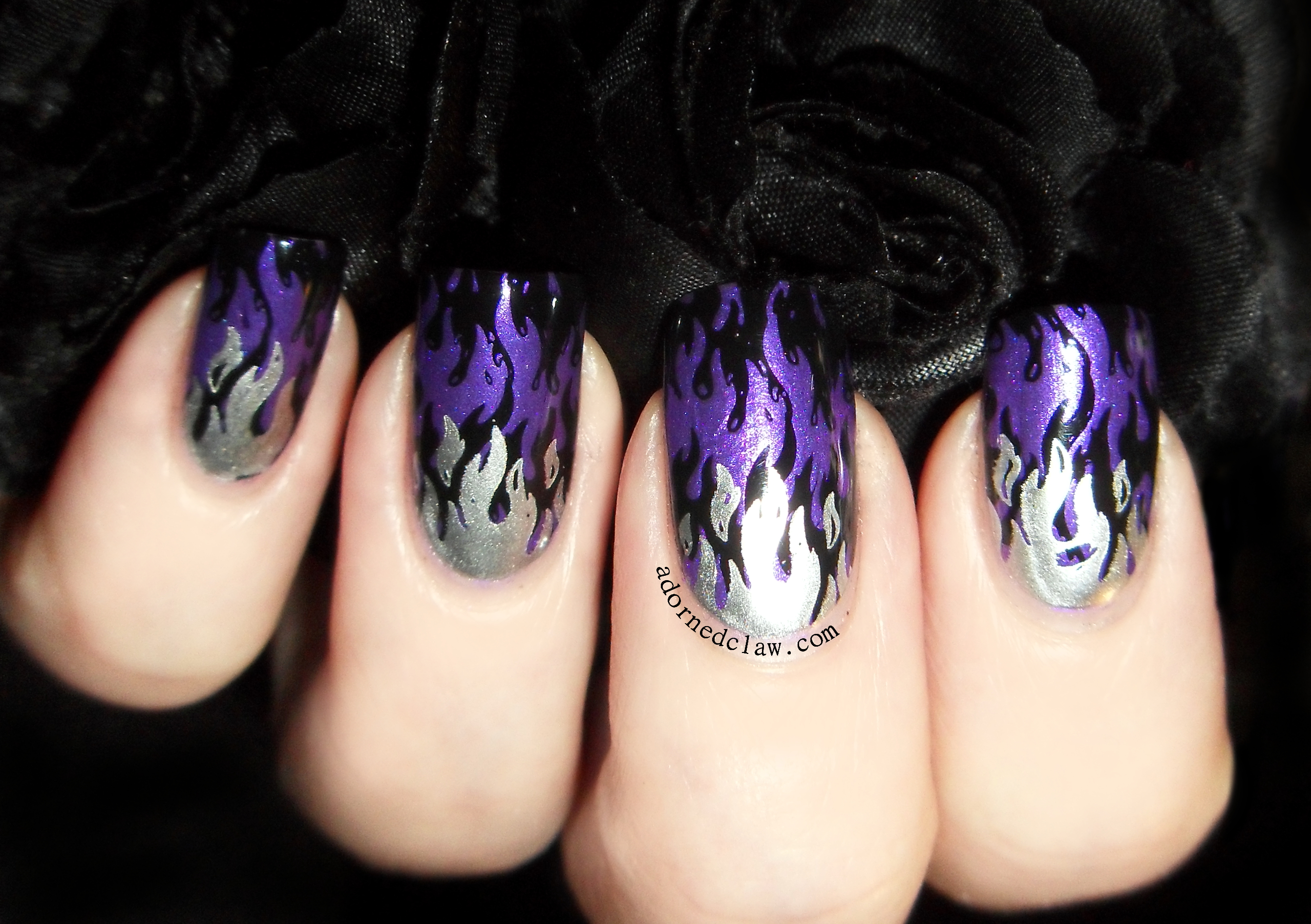Purple And Black Nail Polish Ideas Hession Hairdressing