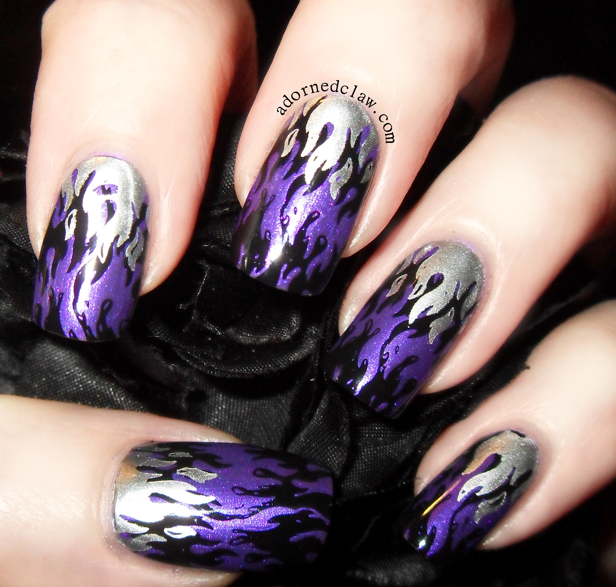 Purple Flames | The Adorned Claw