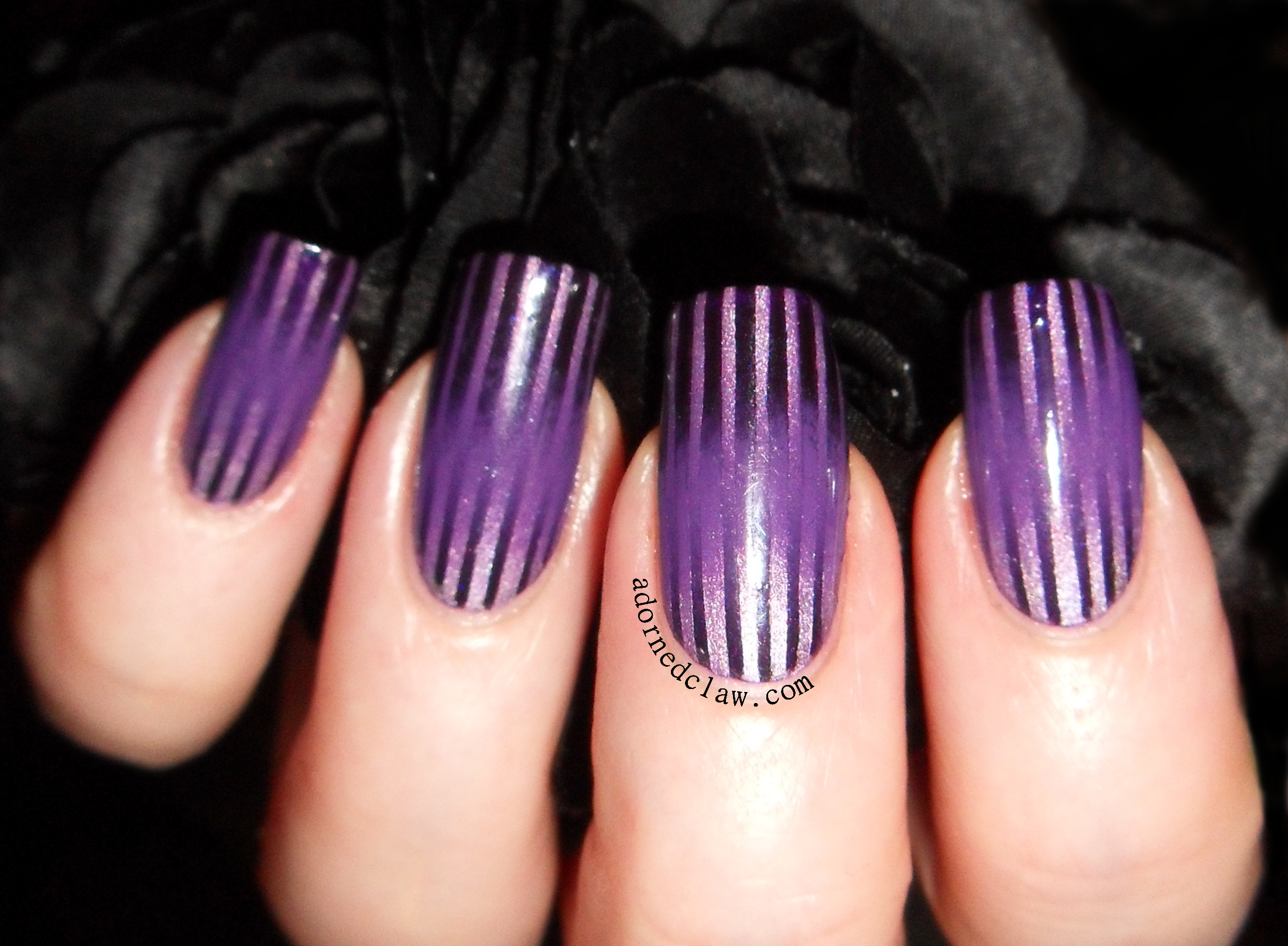 Striping Tape Nail Art | The Adorned Claw