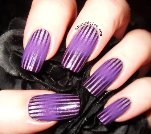 Purple Double Gradient Nail Art