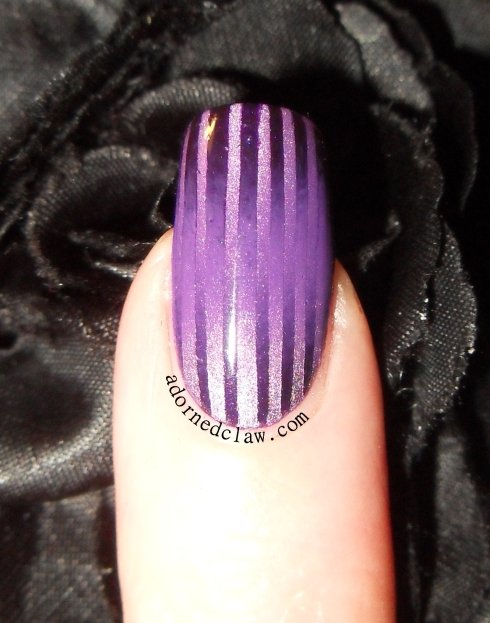 Purple Double Gradient Nail Art
