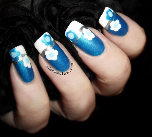 blue white and silver flowers