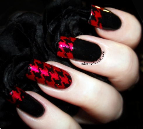 Red and Black Houndstooth