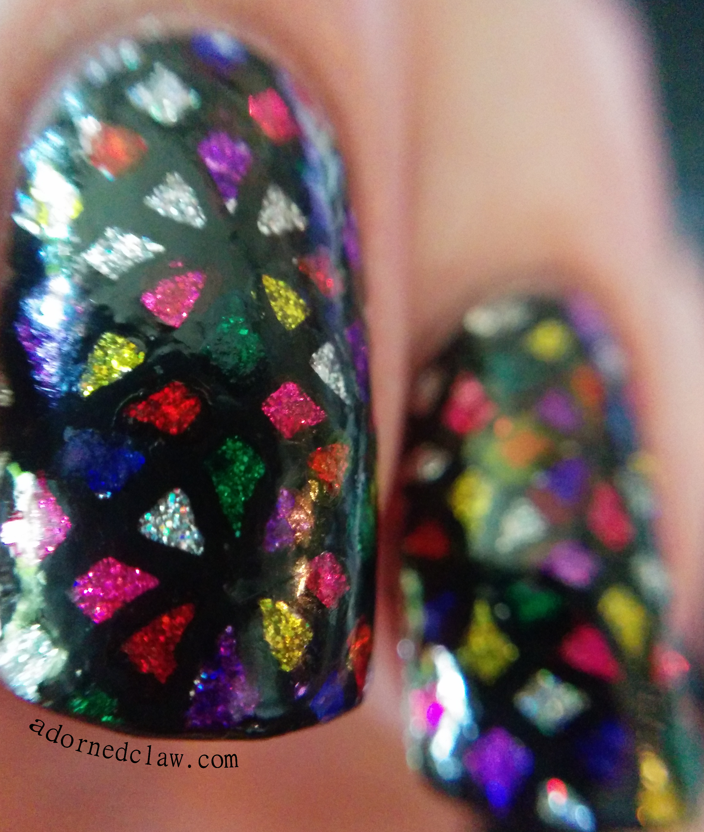 The Adorned Claw: Stained Glass Nail Art