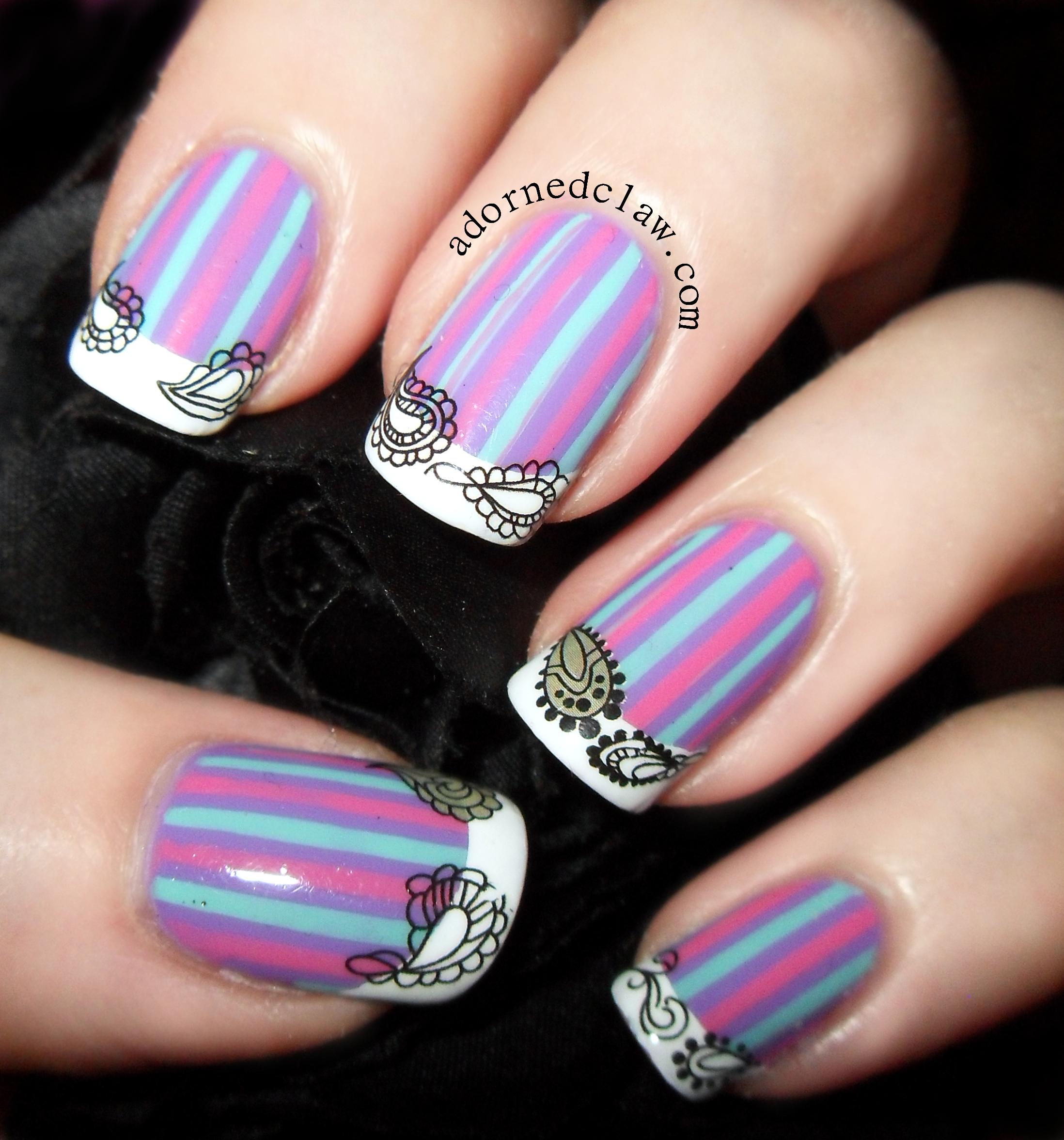 Nail Designs With Striping Tape: Striping Tape Nail Art