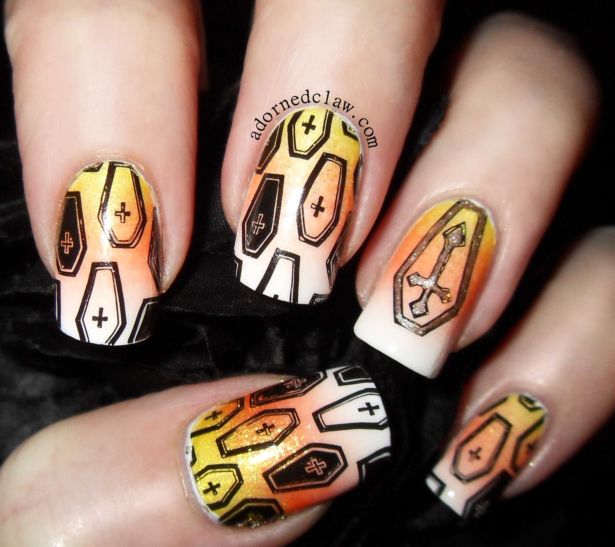 Candy Corn Nails | The Adorned Claw