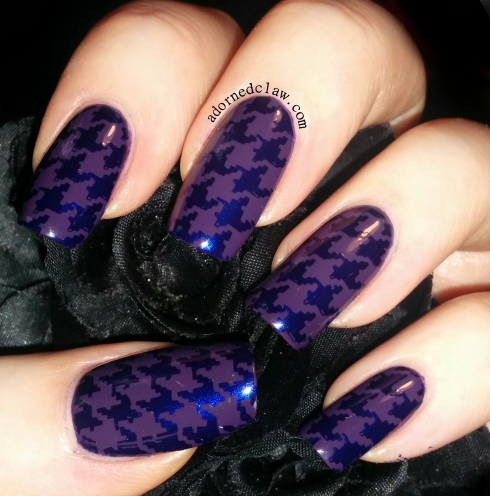A England Houndstooth Nail Art