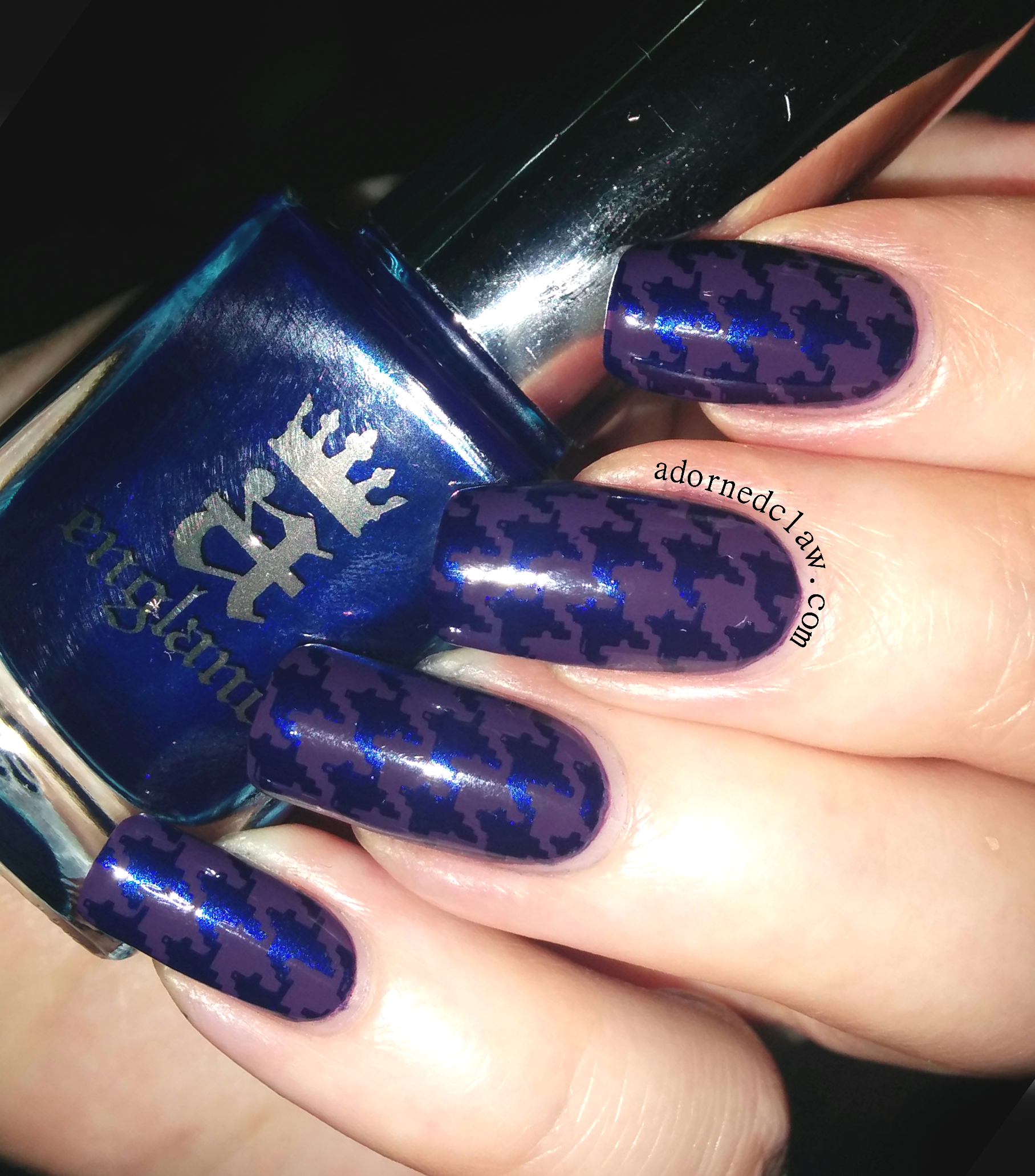 A England Houndstooth Nail Art The Adorned Claw