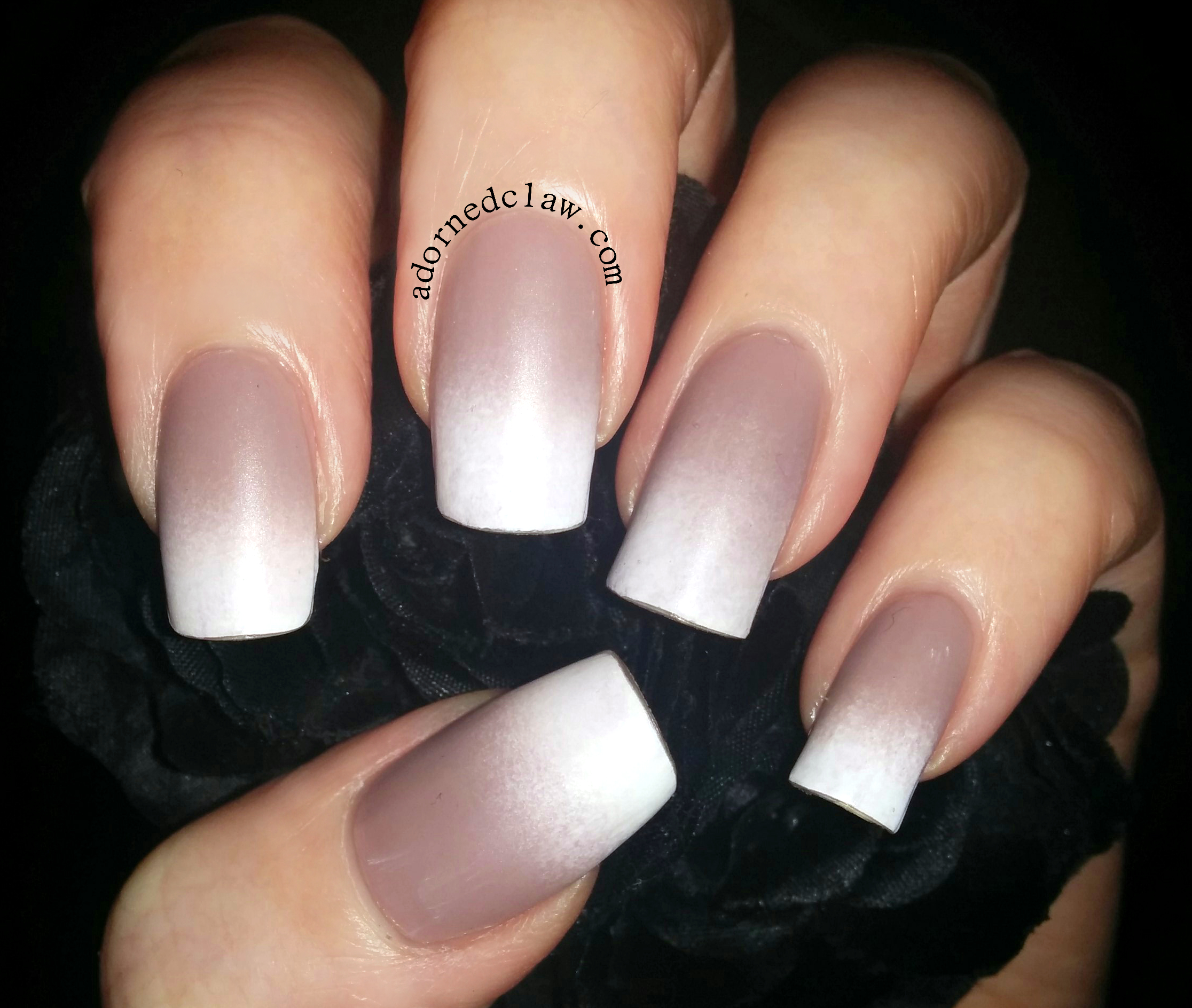 Nude And White Matte Gradient The Adorned Claw