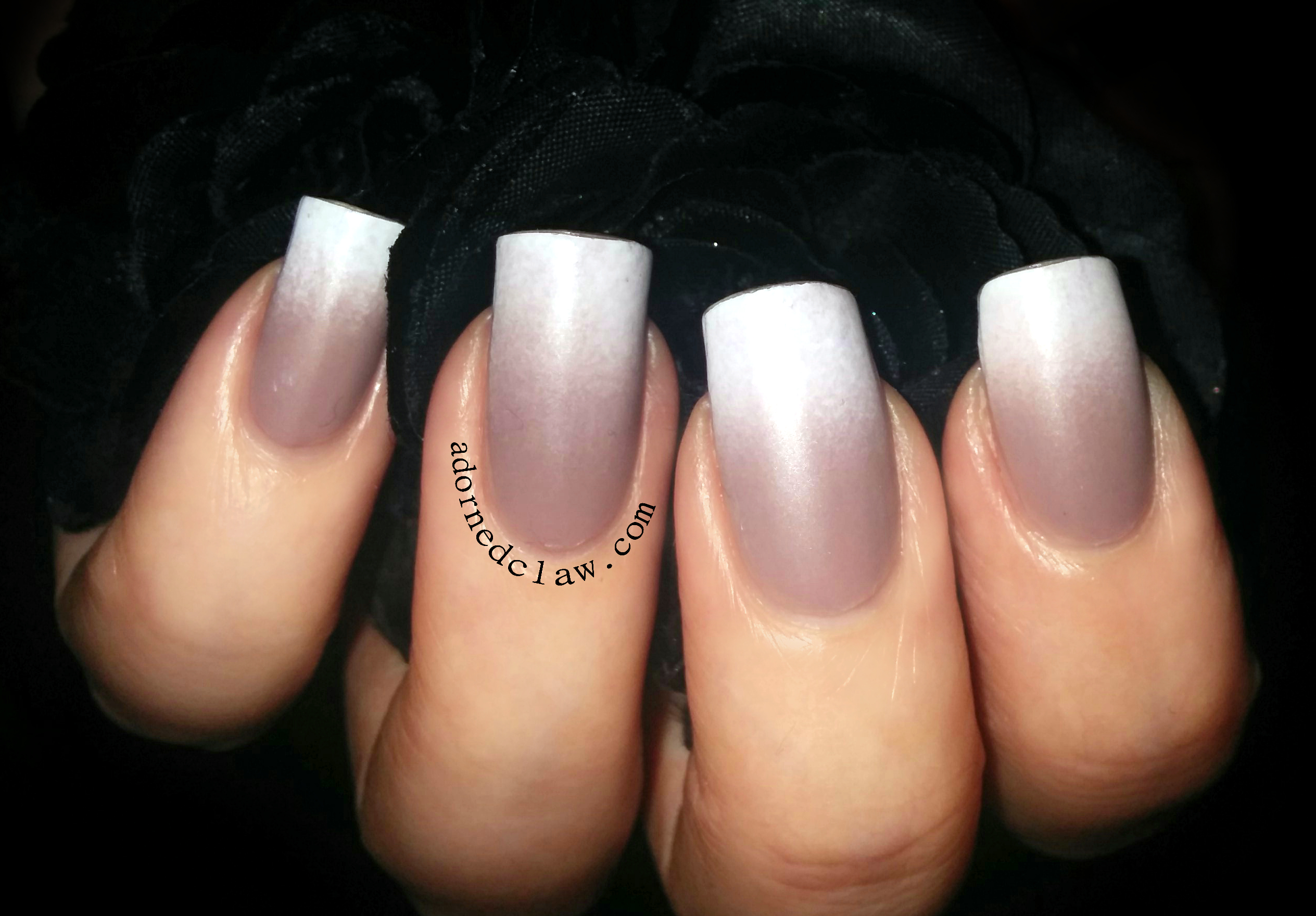 Deborah lippmann modern love the adorned claw matte nude gradient nail art prinsesfo Images