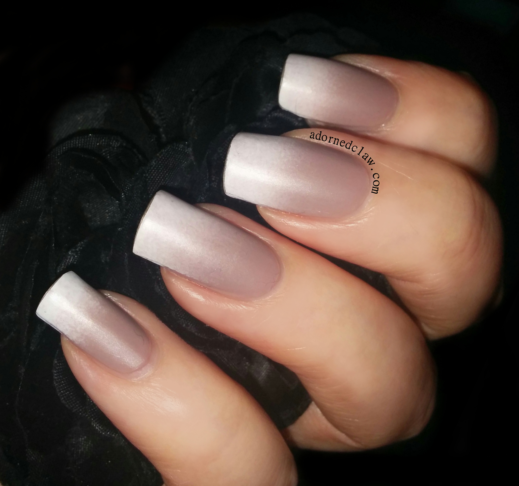 Nude and White Matte Gradient | The Adorned Claw