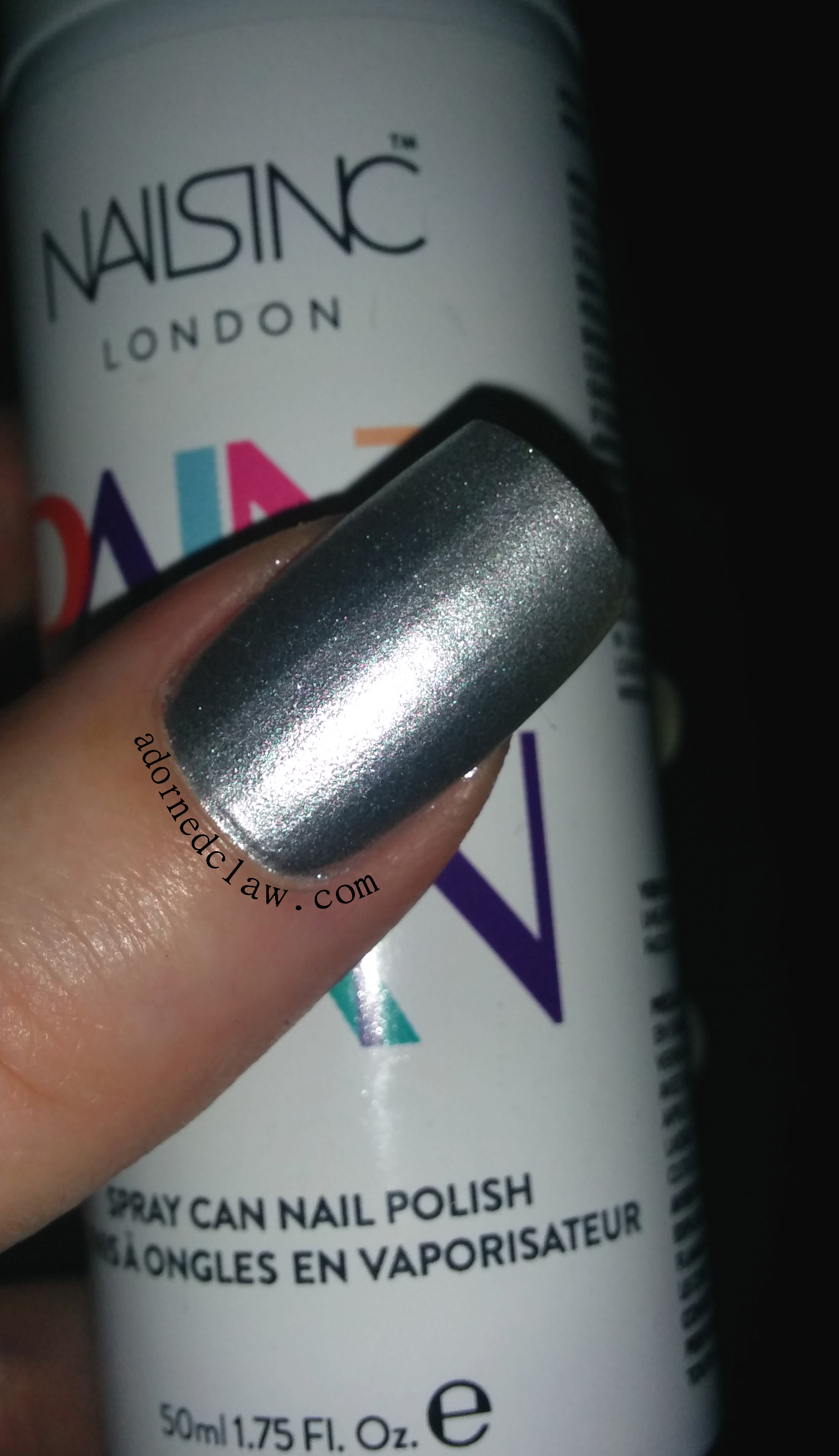 nails inc shoreditch lane swatch review silver spray can nail polish. Black Bedroom Furniture Sets. Home Design Ideas