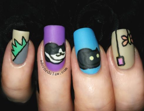 Neko Atsume Nail Art