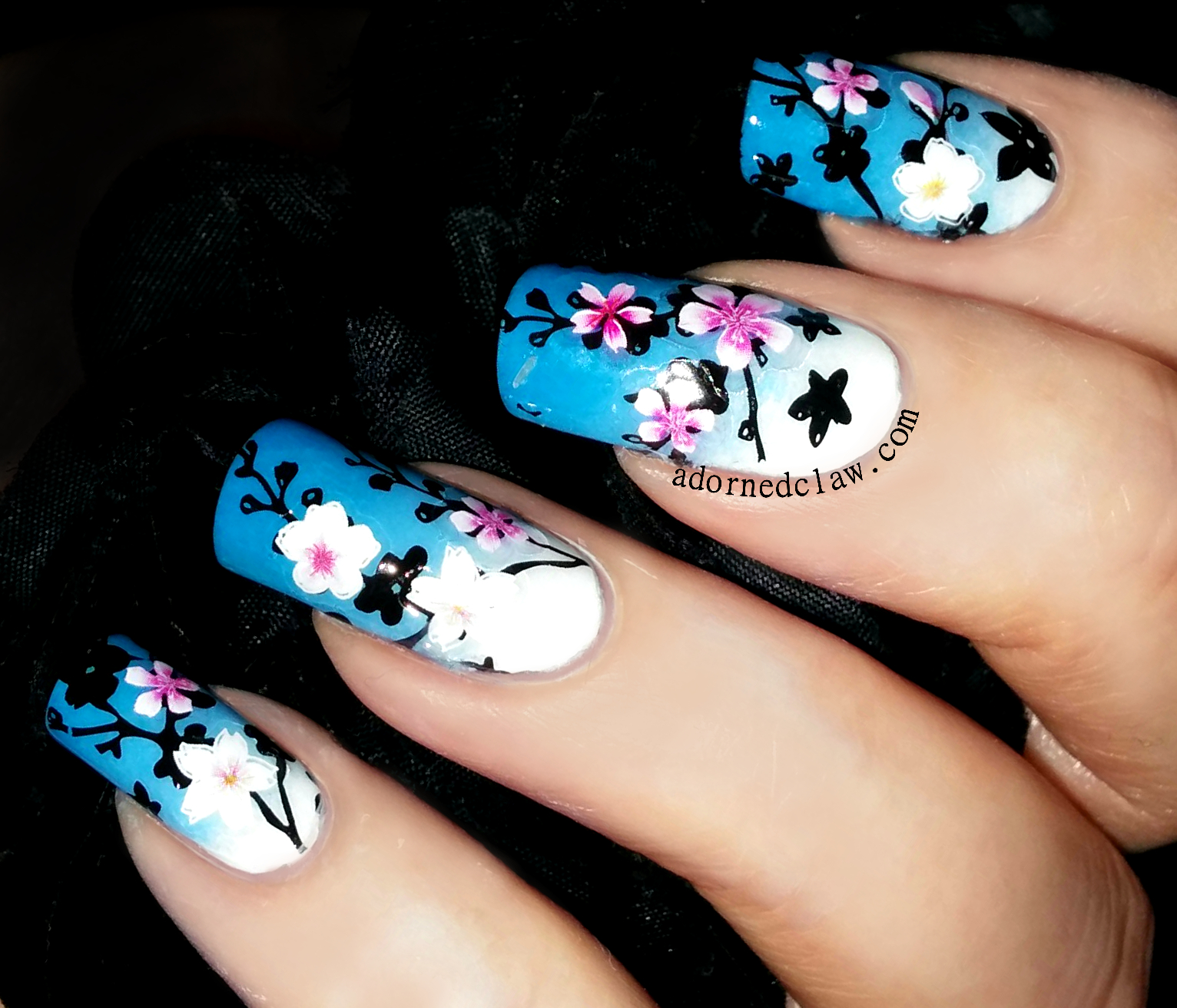 Spring Flower Nail Art   The Adorned Claw