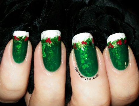 christmas pickle nail art