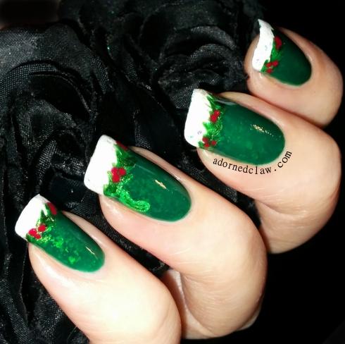 christmas pickle nail art