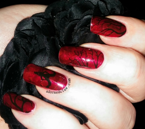 krampus nail art