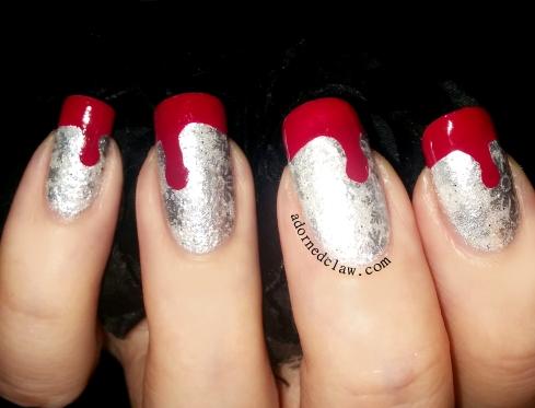 Perchta inspired nail art