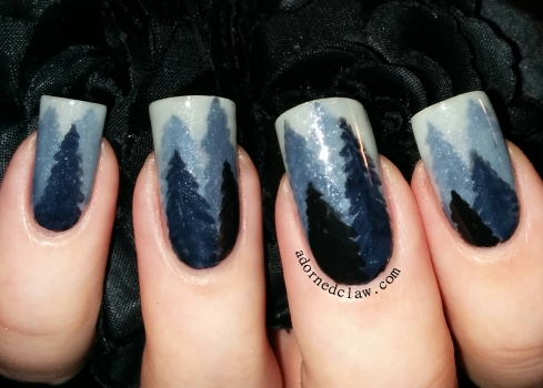 Frosty Forest Nail Art