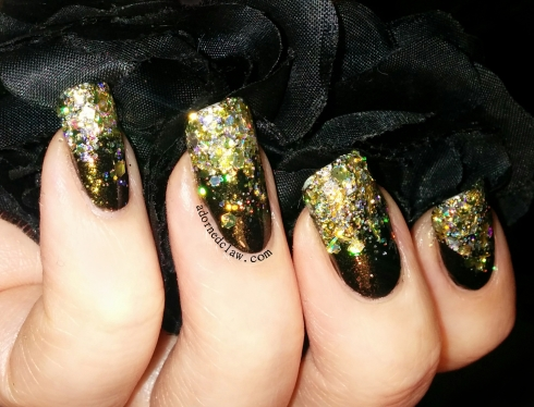 black and gold glitter gradient