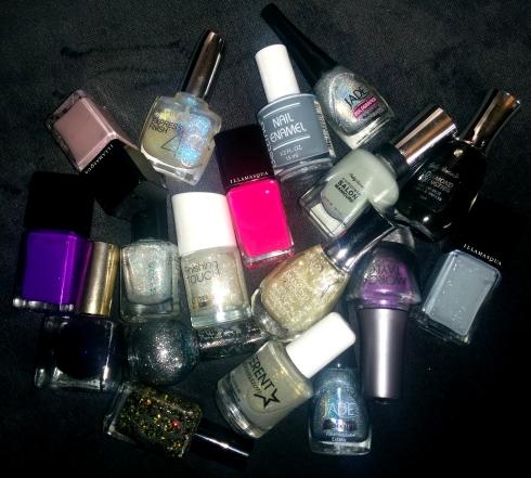 Pile of nail polish