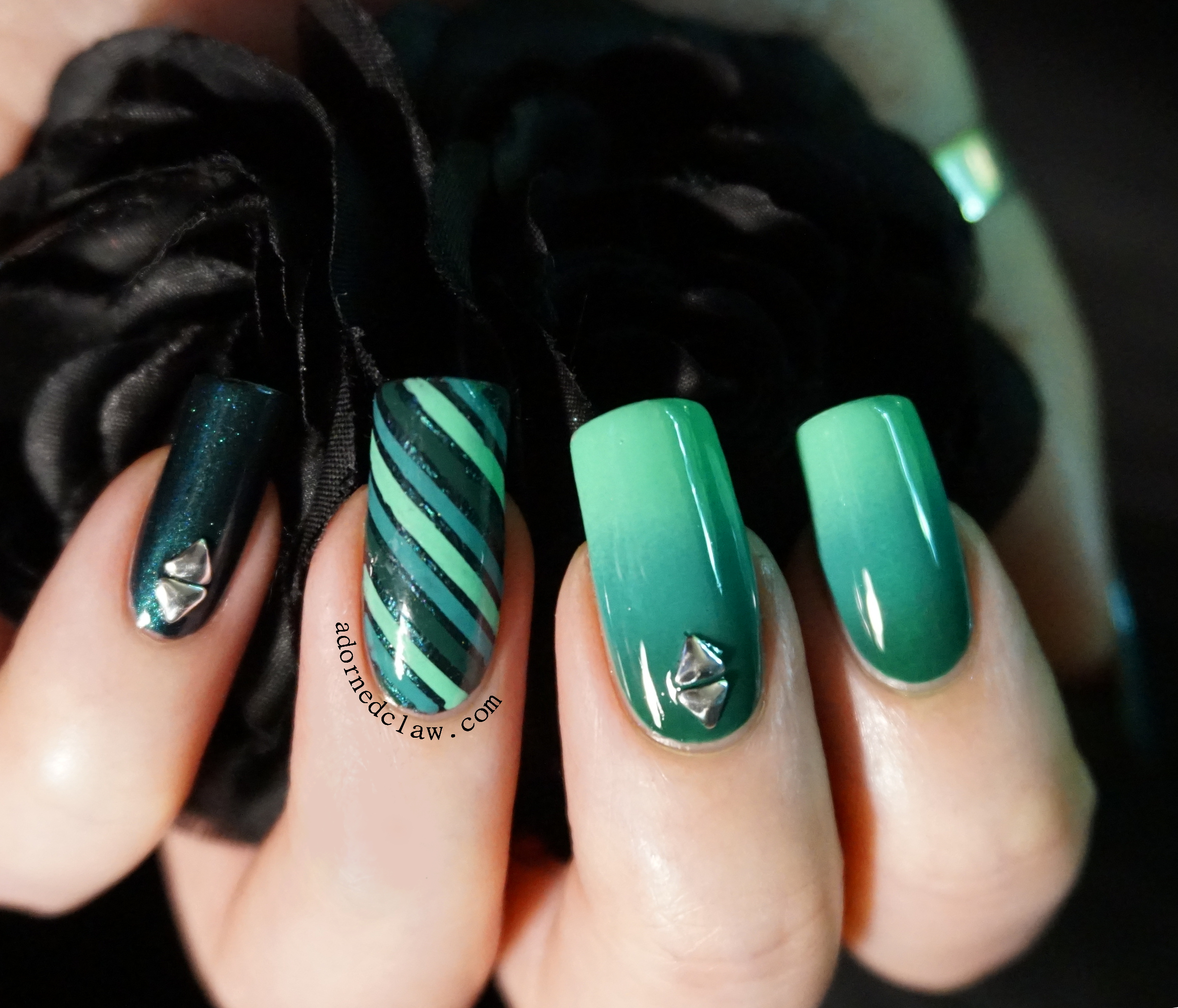 The adorned claw nail art page 2 teal nail art prinsesfo Image collections