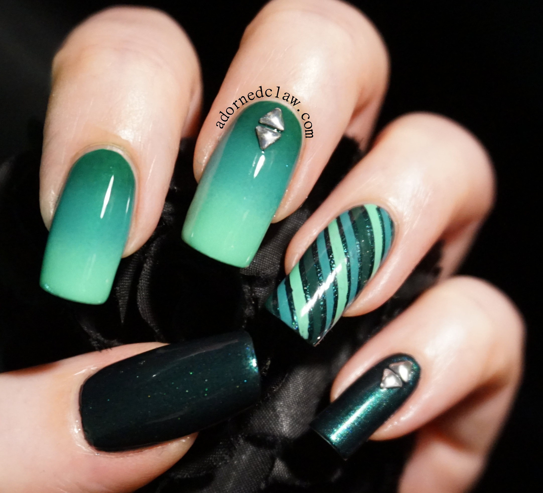 Gradient Nail Art: The Adorned Claw