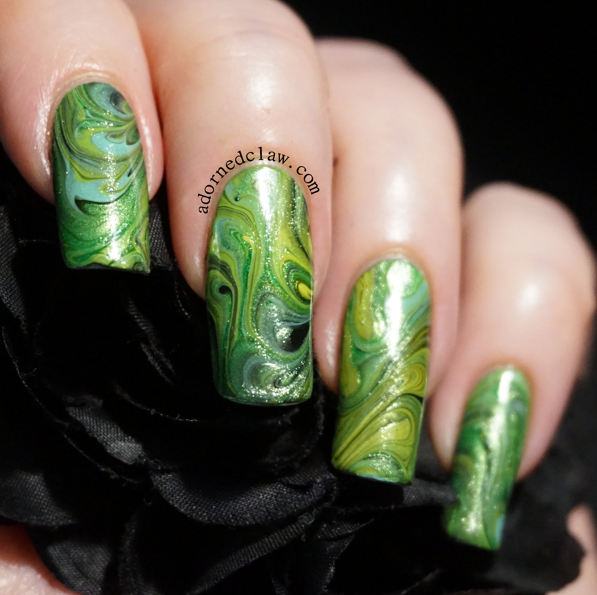The adorned claw nail art green nail art decal prinsesfo Image collections