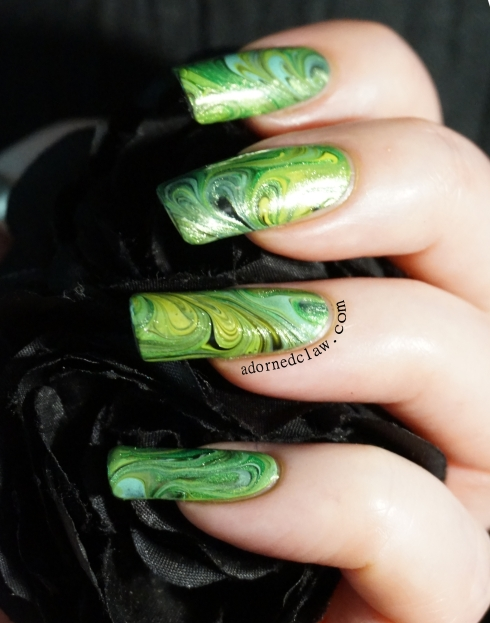 green nail art decal