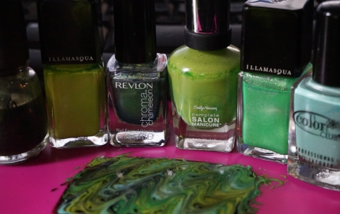 green nail art decal
